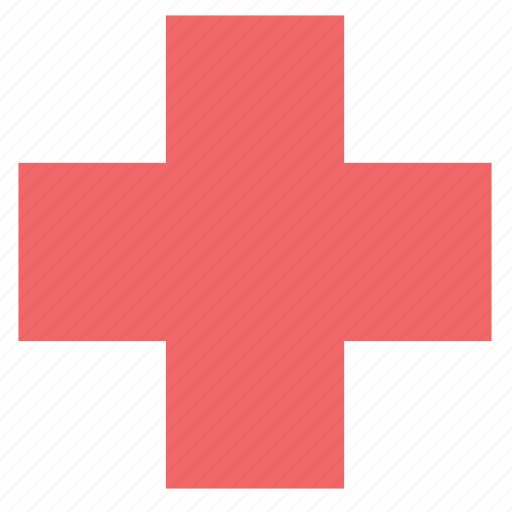 basic, care, cross, healthy, hospital, medical, red icon
