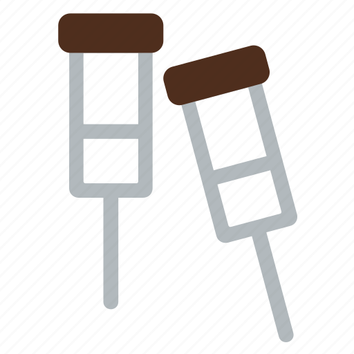 crutch, elbow crutch, equipment, hospital, stick, tool, walking stick icon