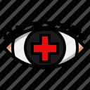 eye, medical, ophthalmology, optical, vision icon