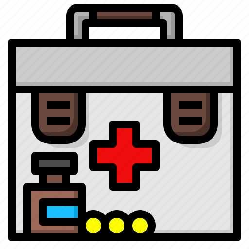 aid, box, first, medical icon
