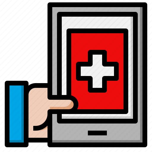 aid, first, hospital, medical, phone, smartphone icon