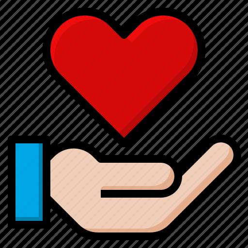 customer, disease, heart, impression, medical, service icon