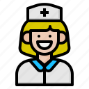 hat, hospital, medical, nurse icon