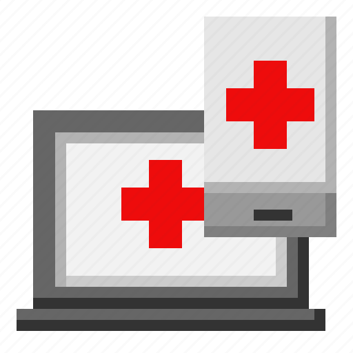 computer, medical, phone, smartphone icon