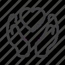 care, hand, health, heart, help, love icon