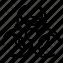 biohazard, caution, hazard icon