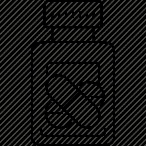 antibiotic, bottle, medication, medicines, pills, tablet icon