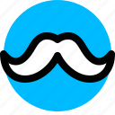 masculine, men, mustache icon