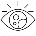 eye, iris, sight icon
