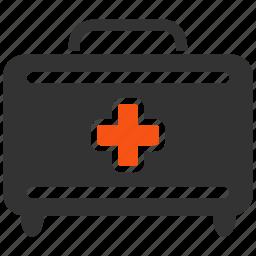 briefcase, healthcare, help, hospital, medical, medicine, suitcase icon