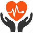 cardio, cardiology, care, healty, heart rate, heartbeat, pulse level icon
