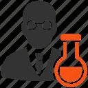 chemist, chemical, labs, professor, research, retort, science