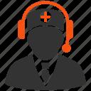 operator, reception, support, nurse, orderly, paramedic, service