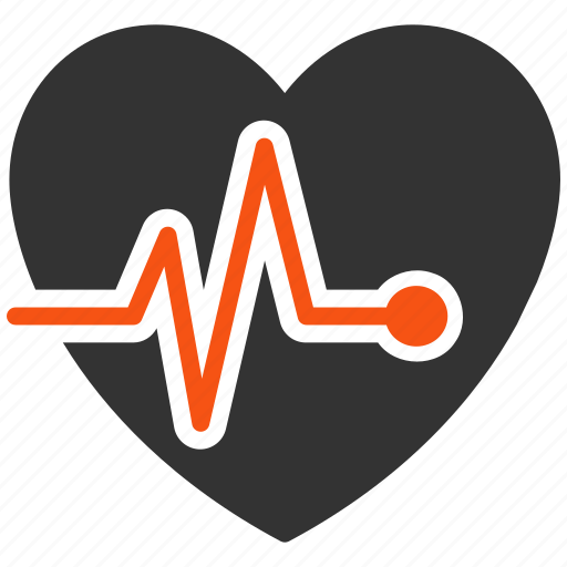 cardiology, heart rate, heartbeat, living, pulsation, pulse, rhythm icon