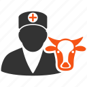 agriculture, cow doctor, medicine, vet clinic, veterinarian, veterinary icon