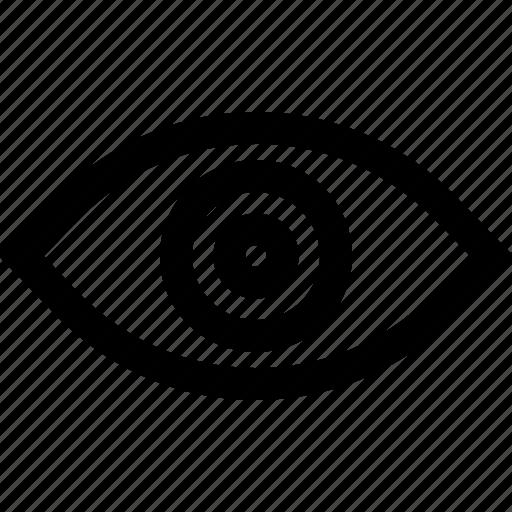 eye, eyeball, medical eye, show, view, visibility icon