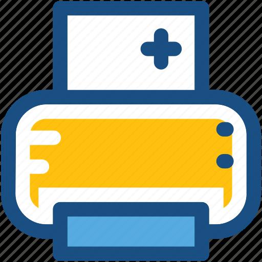 facsimile, fax machine, hospital records, medical printer, printer icon