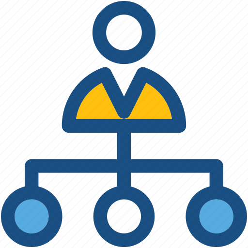 hierarchy, leader, management, manager, organization icon