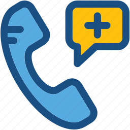 call, emergency call, hospital helpline, receiver icon