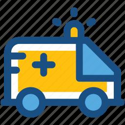 ambulance, emergency, emt, medical transport, medical van icon