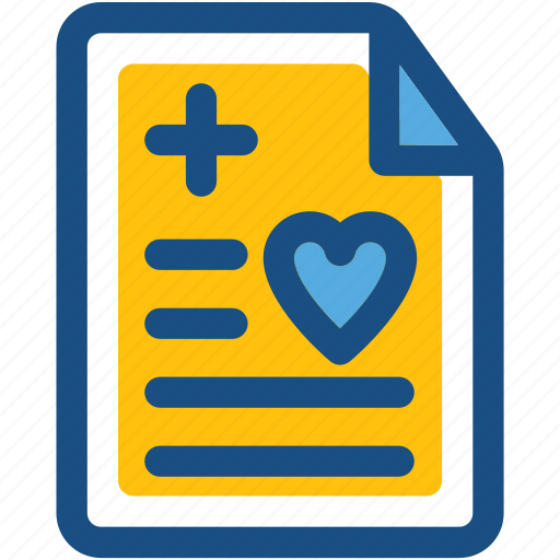 ecg report, electrocardiogram, medical report, patient report, prescription icon