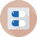 capsule, drug, medication, medicine, pill icon