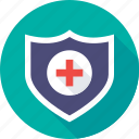 health insurance, healthcare, hospital care, medical, shield icon
