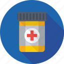 capsule, drugs, medicine jar, pills, tablet icon
