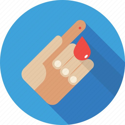 bleeding, blood drop, hand injury, injury, wound icon