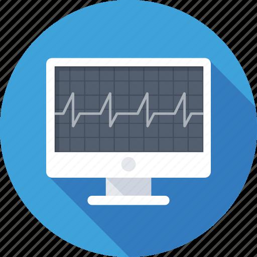 Ecg, ekg, ecg monitor, ecg machine, electrocardiogram icon