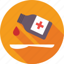 liquid medicine, medication, medicine, spoon, syrup icon