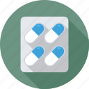 medicine, pills strip, pharmacy, vitamins, pills icon
