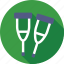 aid, crutch, medical, mobility aid, walking stick icon