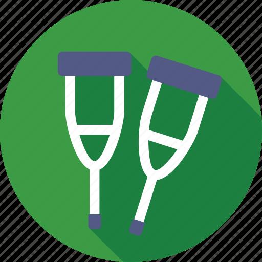 aid, crutch, medical, mobility aid, walking stick icon
