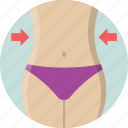 fitness, slim waist, waist, waistline, weight loss icon