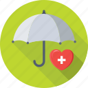 healthcare, heart, insurance, medical insurance, umbrella icon