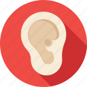 body part, ear, listen, organ, otology icon