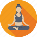 exercising, fitness, workout, yoga, yoga posture icon