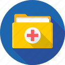 documents, files, folder, hospital record, medical folder icon