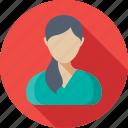 lady, woman, patient, avatar, female patient icon