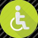 disabled parking, handicap, paraplegic, paralyzed, disability icon