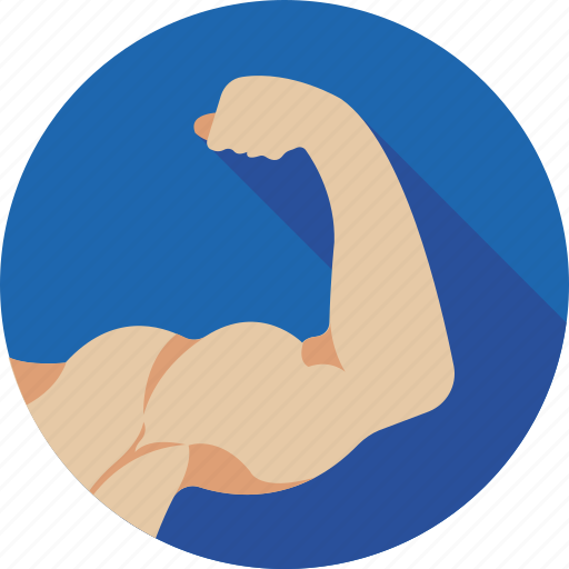 biceps, fitness, muscle, muscular arm, strong arm icon