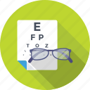 eye test, glasses, ophthalmologist, optical, snellen chart icon