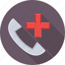 call, emergency call, helpline, medical, receiver icon