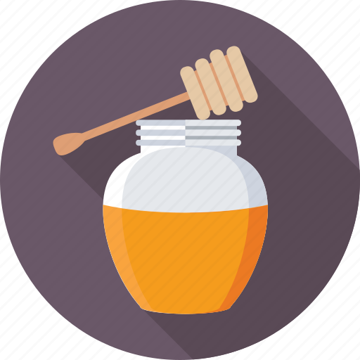 food, honey, honey dipper, honey drizzler, honey jar icon