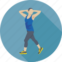 exercise, fitness, health, stretching, workout icon