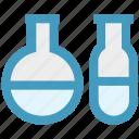 analysis, biology, biotechnology, flask, sample tubes, test tubes icon