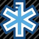 healthcare, medical emergency, star of life, medical symbol, medical star