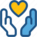 care, charity, donation, health care, heart care icon