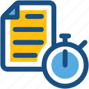 chronometer, document, file, fitness tracker, stopwatch icon